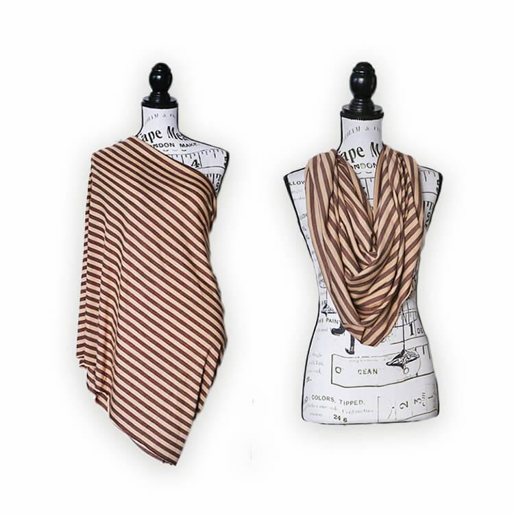 Mama Melon™ Nursing Cover - stripes brown