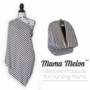 Nursing Cover brown white stripe