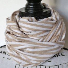 Nursing Scarf/ Cover khaki white - stripe