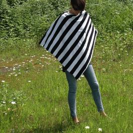 Nursing Poncho - stripe