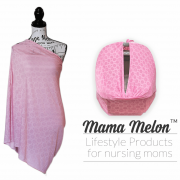 nursing cover light pink with dots121car seat cover