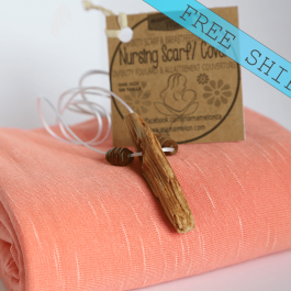 Nursing Scarf Cover - coral
