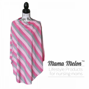 nursing cover pink stripe