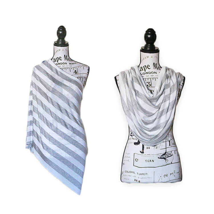 Mama Melon™ Nursing Cover - grey/white stripe