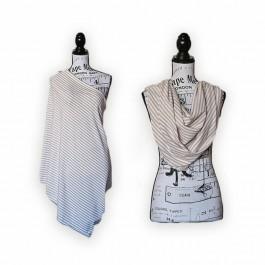 Nursing Scarf/ Cover khaki white - stripe