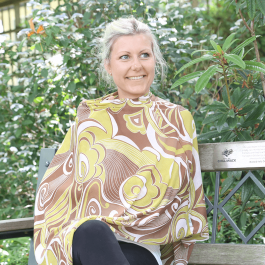 Nursing Poncho green/brown