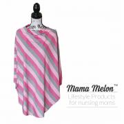 nursing cover pink stripe