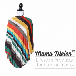 Nursing Poncho - earth stripes